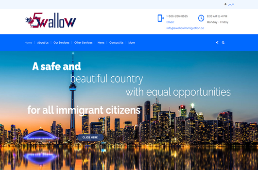 Swallow Immigration Web Design